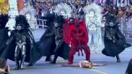 BLASFÊMIA - Desfile de escola de samba mostra satanás lutando e 'vencendo' Jesus