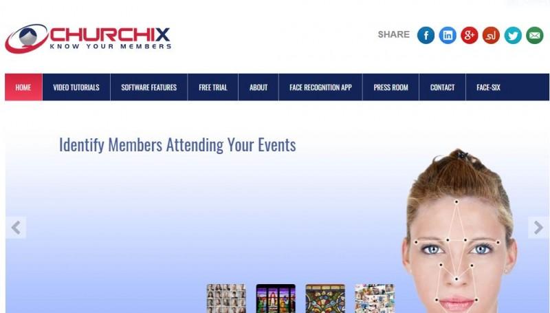 Site da ChurchIX apresenta ferramenta de reconhecimento facial para igrejas. %u201CConheça seus membros%u201D.