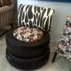 Decoração sustentável: móveis feitos de pneus reciclados