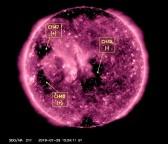 Velocidade do vento solar dispara e atinge 800 km/s