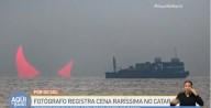 Fotografo registra raro eclipse solar em formato de 'chifres' no Catar