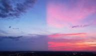 Céu se divide em dois na Carolina do Norte - EUA