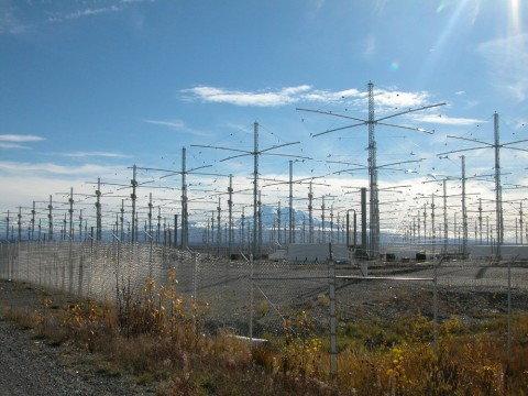 Conjunto de antenas do HAARP.