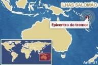 Terremoto de 7.8 graus atinge Ilhas Salomão e gera alerta de tsunami