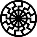 Swarze Sohne-S.S., traduzindo significa SOL NEGRO, símbolo da Waffen SS.