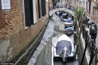 Mistério em Veneza: famosos canais ficam secos
