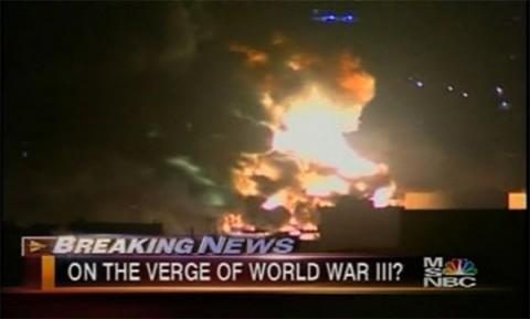 MSNBC preguntándole al mundo si estamos al borde de una tercera guerra mundial, a cause de los conflictos en el medio oriente.