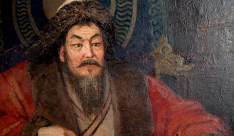 Grabado de Gengis Khan.