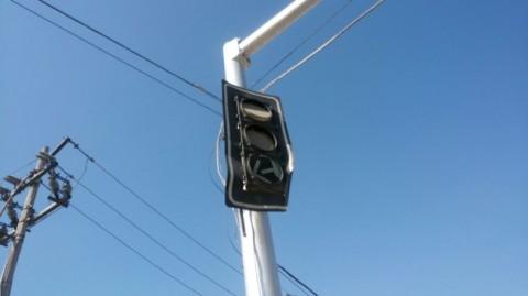 Resultado da onda de calor sem precedentes em todo o México: os semáforos estão derretendo.