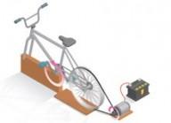Bicicleta geradora de energia - Sistema simples, barato e fácil de fazer transforma energia mecânica em elétrica