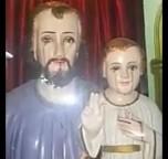 Imagens de Nossa Senhora de Fátima e de São José com o menino Jesus começam a chorar em Vijayawada (Índia)