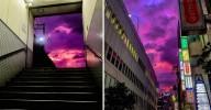 Céus roxos cobriram o Japão na passagem do tufão Hagibis