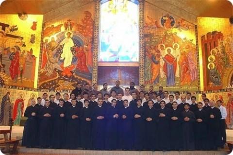 Alguns dos seminaristas da Diocese de Cidade do Leste (Paraguai).
