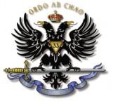 A águia de duas cabeças, o Ordo Ab Chao, lema do 33º grau da Maçonaria.