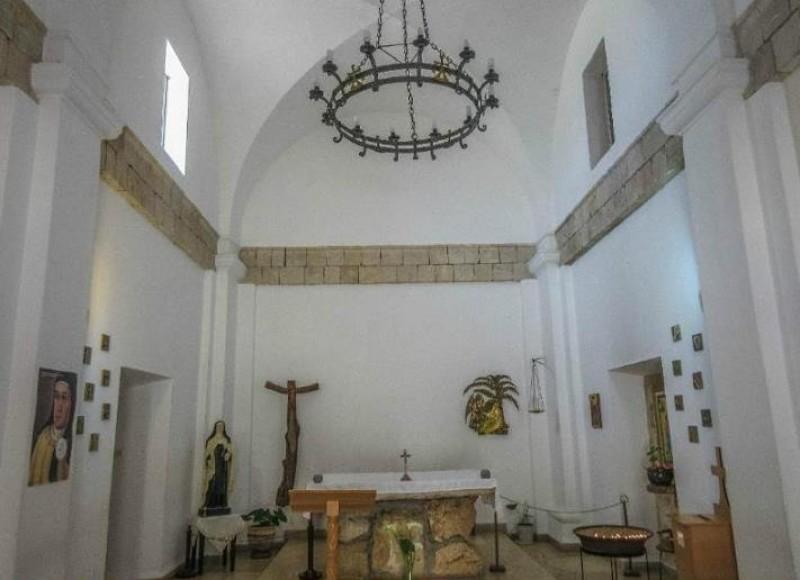 Interior da capela do Mosteiro El-Muhraqa.