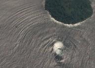 Que está acontecendo no mar? Estranho fenômeno que produziu ondas anômalas foi captado pelo Google Earth no Golfo de Fonseca