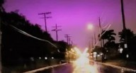 Mistério em Cleveland: Céu noturno fica roxo