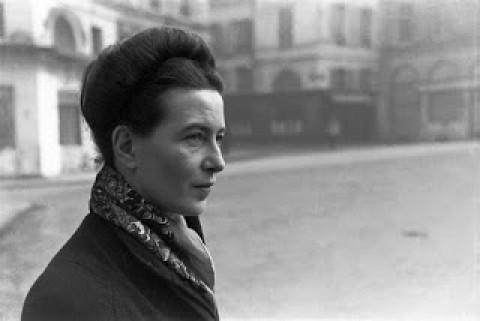 Filósofa feminista Simone de Beauvoir.