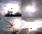 'E HAVERÁ SINAIS NO SOL, NA LUA E NAS ESTRELAS' (Lc 21, 25) Miraculosos sinais no Sol no céu da Índia!