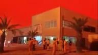 Céu fica vermelho como sangue no Oriente Médio
