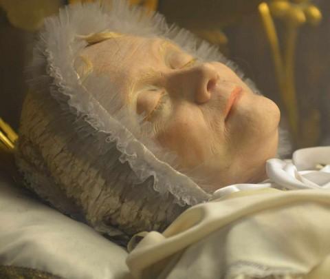 Beata Anna Maria Taigi, detalhe de seus restos mortais.