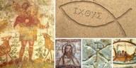 Em imagens: 9 poderosos símbolos cristãos eternizados nas catacumbas