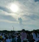 Venezuelanos impactados com a imagem de Jesus da Misericórdia, que apareceu no céu no dia da Festa da Divina Misericórdia