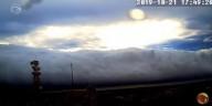 Assustadora nuvem em forma de rolo aparece no céu em Ourinhos, São Paulo