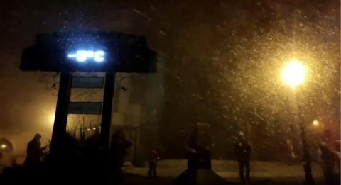 Intensa tempestade de neve no Brasil em julho de 2021.