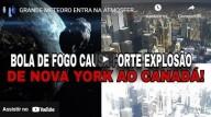 Grande meteoro entra na atmosfera da Terra criando estrondo sônico e flash intenso (vídeo)
