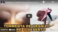 Tornado e tempestade de granizo no deserto (vídeo)