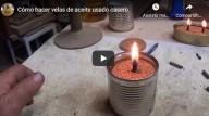 Como fazer velas utilizando azeite de cozinha usado