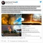 Serviço Meteorológico Nacional nos EUA emite primeiro aviso americano de um tornado de fogo