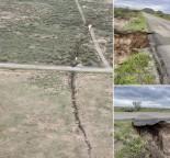 Enormes fissuras de terra racham o solo do Condado de Cochise, Arizona (EUA)