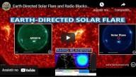 A segunda chama solar direcionada para a Terra em dois dias cria um apagão nas ondas curtas de rádio sobre o sudeste da Ásia - O tsunami solar de Ejeção de Massa Coronal pode nos impactar!!!