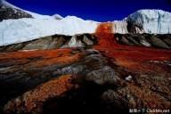 Misteriosas cataratas de sangue na Antártica
