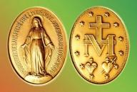 Medalha de Nossa Senhora das Graças, também conhecida como Medalha Milagrosa.