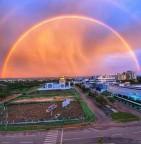 Maravilha da natureza: Arco-iris espetacular aparece nos céus de Palmas e Paraíso, no Tocantins