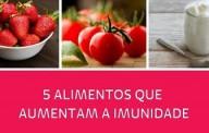 5 alimentos que aumentam a imunidade